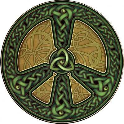 Celtic Peace Window Sticker
