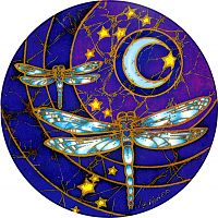 Dragonfly Moon Window Sticker