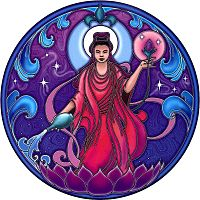 Quan Yin Window Sticker