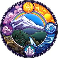 Rainbow Mountain Window Sticker