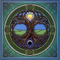 Tree of Life Illumination Art - Window Stickers, Trees & Greenman