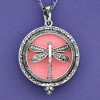 Dragonfly Aromatherapy Locket - Silver Tone