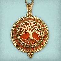 Tree of Life Aromatherapy Locket - Bronze Tone