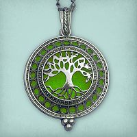 Tree of Life Aromatherapy Locket - Silver Tone