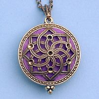 Spiral Star Aromatherapy Locket - Bronze Tone - Aromatherapy, Other Pendants - Pewter, Steel, Bronze, Bone, etc.