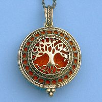 Tree of Life Aromatherapy Locket - Bronze Tone - Aromatherapy, Other Pendants - Pewter, Steel, Bronze, Bone, etc., Trees & Greenman