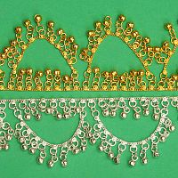 Gold-tone Belly Dance Anklet With Bells and Loops