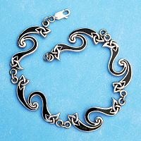 Silver Celtic Fire Bracelet