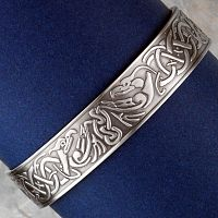 Celtic Phoenix Magnetic Bracelet - Antique Silver - Bracelets