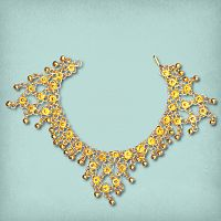 Gold-tone Belly Dance Anklet With Bells