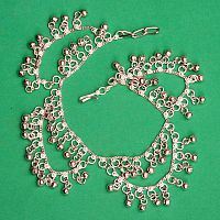 Silver-tone Belly Dance Anklet With Bells and Loops