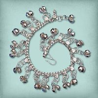 Silver-tone Belly Dance Bracelet With Bells - Dance Jewelry & Accessories, Bracelets