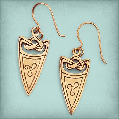 Bronze Arrowhead Earrings