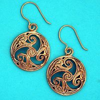 Bronze Triskel Earrings