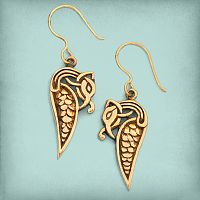Bronze Viking Dragon Earrings