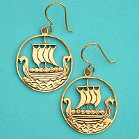 Bronze Viking Ship Earrings
