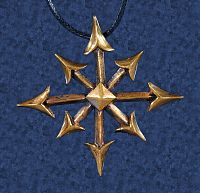 Chaos Star Pendant - More Pendants, Stars, Bronze Jewelry