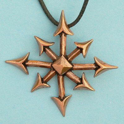 Bronze chaos star pendant at gryphons moon bronze chaos star pendant aloadofball Gallery