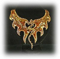 Bronze Dragon Collar - Fantasies in Bronze, Here Be Dragons!