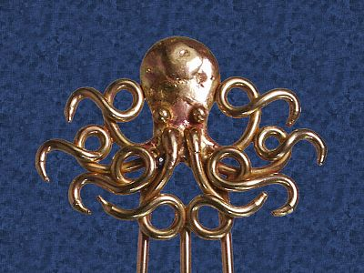 Octopus Hair Fork - Hair Accessories, Fantasies in Bronze, Ocean Mysteries