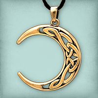 Bronze Celtic Moon Pendant