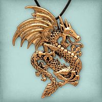 Bronze Dragon Pendant - Pagan Jewelry, Celtic Jewelry, Handmade Cloaks, and more.