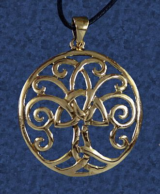 Triquetra Tree Pendant - More Pendants, Trees & Greenman, Triquetras