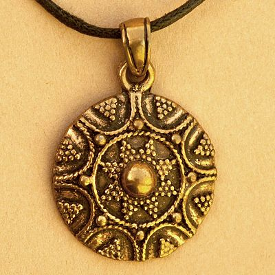 Bronze Viking Shield Pendant