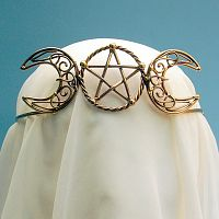Bronze Triple Goddess Crown