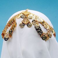 Elegant Coin Headpiece - Gold-Tone - Dance Jewelry & Accessories, Circlets & Crowns