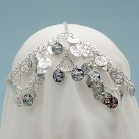 Elegant Coin Headpiece - Silver-Tone - Dance Jewelry & Accessories, Circlets & Crowns