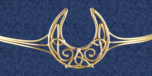 Bronze Crescent Moon Crown At Gryphons Moon