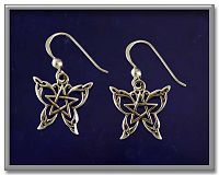 Celtic Butterfly Earrings - Earrings, Take Flight, Paul Borda, Pentacles, Moons & Stars, Nature, Celtic Jewelry, Pagan Jewelry, Stars, Butterflies and Dragonflies