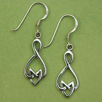 Silver Celtic Arrowhead Earrings