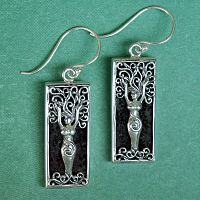 Silver Dryad Aromatherapy Earrings