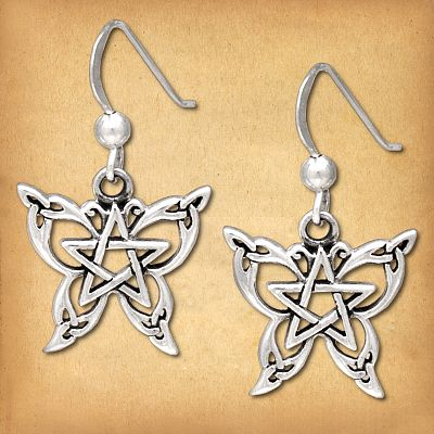 Silver Celtic Butterfly Earrings