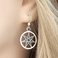 Silver Fairy Star Earrings