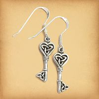 Celtic Key Earrings