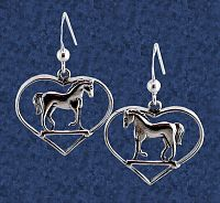 Horse Lovers Earrings - Earrings, Horses, Hearts & Romance