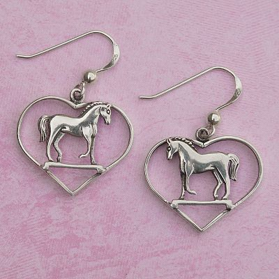 Silver Horse Lovers Earrings