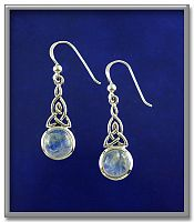Celtic Moonstone Earrings