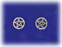 Pentacle Post Earrings