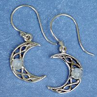 Crystal Moon Earrings