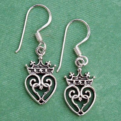 Silver Luckenbooth Earrings