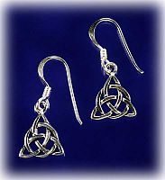 Mini Triquetra Earrings