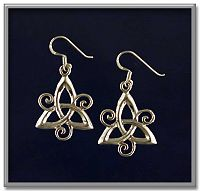 Spiral Triquetra Earrings - Free shipping on orders over $50 at Gryphon