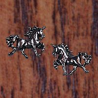 Prancing Unicorn Stud Earrings - Earrings, Unicorns