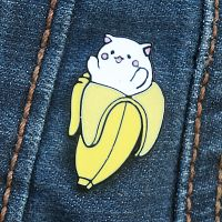 Bananya Cat Enamel Pin