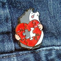 Hedgehog Heart Enamel Pin