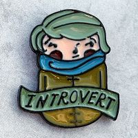 """Introvert"" Enamel Pin"